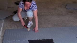 Fortelock - odolná podlaha z plastových dlaždic - pokládka snadno a rychle