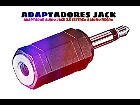 Video de Adaptador audio jack  3.5 estereo a mono  Negro