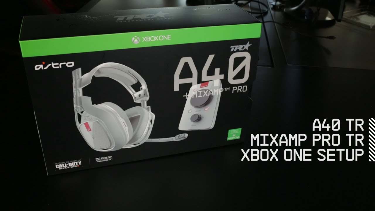 ed3ed9715ea Setup A40 TR Headset + MixAmp Pro TR with Xbox One | ASTRO Gaming ...