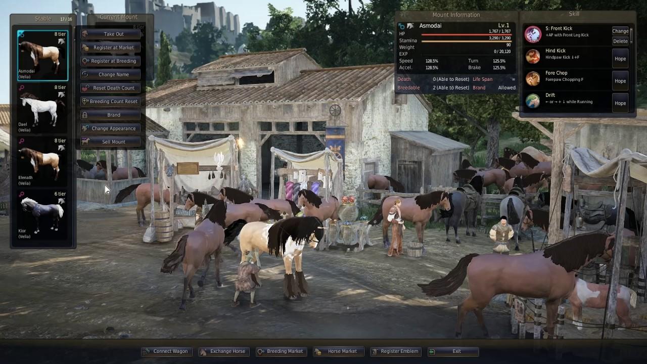 Black Desert Online - horse mass breeding #2, T8 attempts