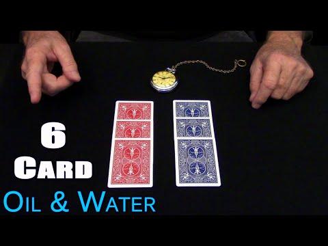 6 Card Oil & Water (RED Oil BLUE Water) ~ An In Depth Tutorial