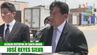 MUNICIPALIDAD DISTRITAL DE SANTA MARÍA RINDE HOMENAJE A HEROE ERIC DIAZ CABREL