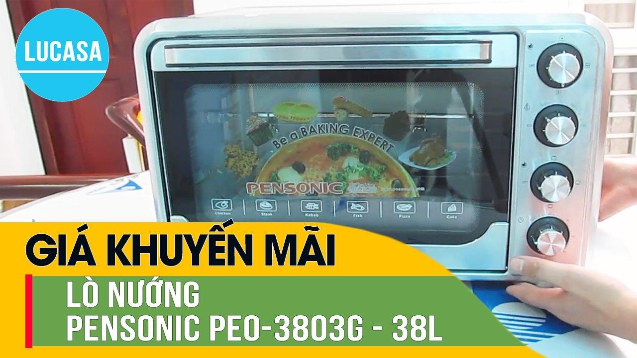 Lò nướng Pensonic PEO-3803G – 38 L – Pensonic Electric Oven PEO-3803G – Review and Unboxing