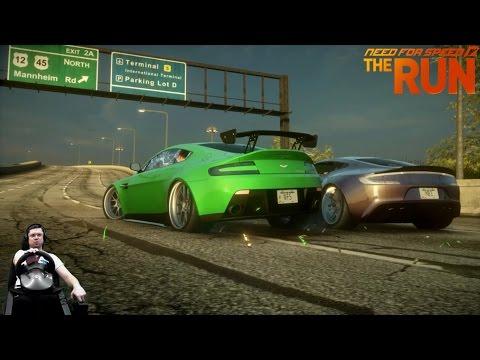 Батл с мафией в Чикаго Need for Speed: The Run на руле Fanatec Porsche GT2