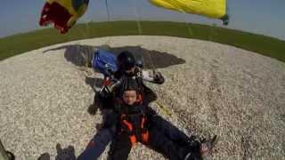 Giacomo 7 anni, lancio in tandem, Skydive Venice, San Stino di Livenza, Venezia