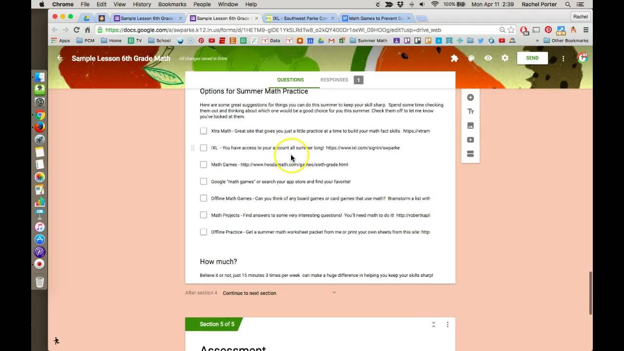 Adding Links Google Forms Youtube