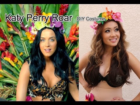 Katy Perry Roar DIY Halloween Costume $20 or Less  sc 1 st  YouTube & Katy Perry Roar DIY Halloween Costume $20 or Less - YouTube