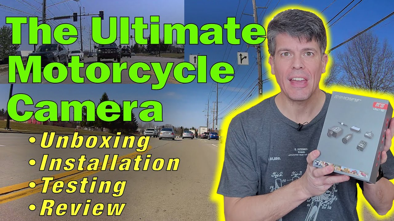 INNOVV K5 4K motorcycle dual camera system: Unboxing, Goldwing Installation and Review