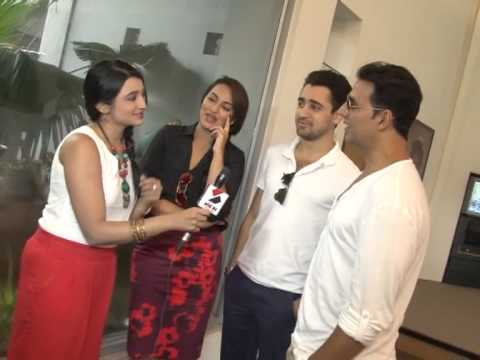 Akshay Kumar, Sonakshi Sinha & Imran Khan visited Sandesh News to promote the movie OUATIMD