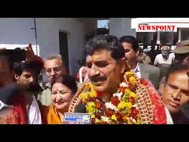 Jugal Kishore addressing media personnels