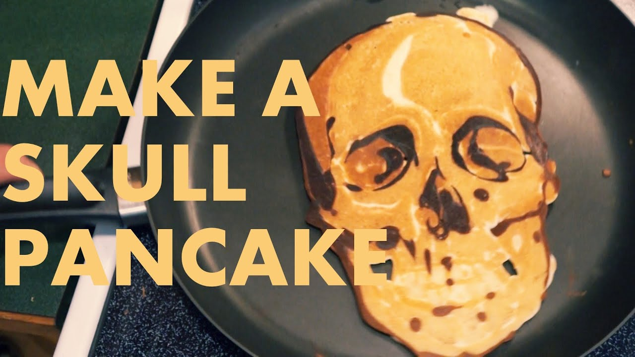 How to make a skull pancake pancake art tutorial youtube ccuart Images