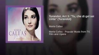 "Turandot, Act 3: ""Tu, che di gel sei cinta"" (Turandot)"