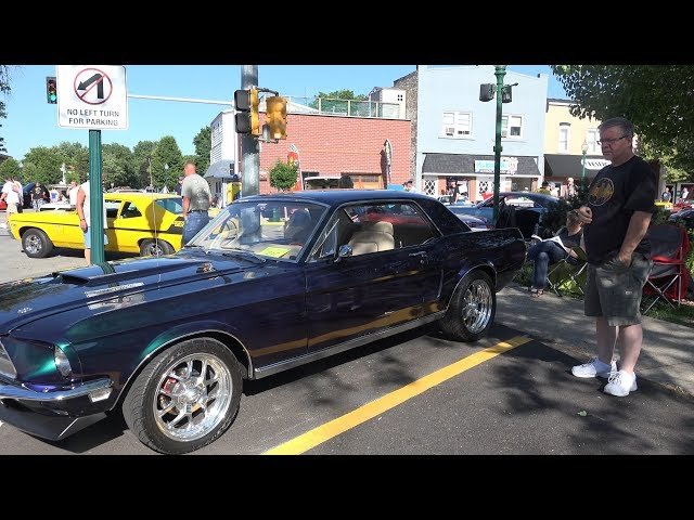 1968 Ford Mustang -  Multi Colored Paint -Morris Car Show