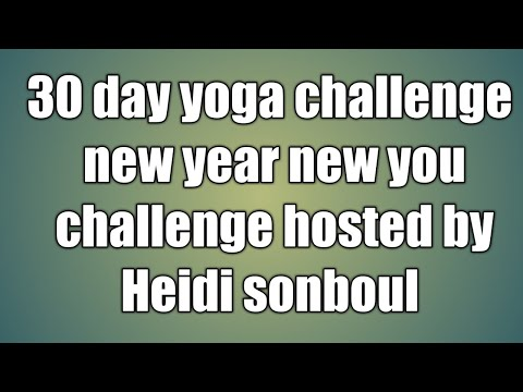 30 day yoga challenge/ new year new you challenge hosted by Heidi sonboul/day4/floor/2018