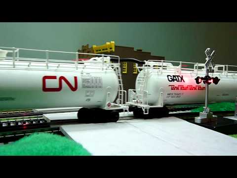 Modelling Railroad Train Track Plans -Unlimited Suggestions For CN DASH 9 pulls GATX TankTrain Tank Cars from Lionel