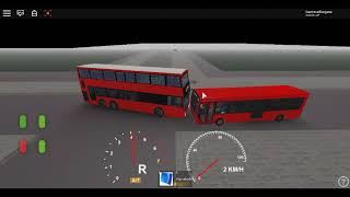Roblox London Hackney & Limehouse bus Simulator a very short test driving MCV B8L Volvo 3-Axle