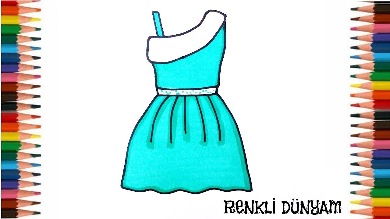 Çok Kolay Elbise Çizimi (How to draw a dress)- Renkli Dünyam