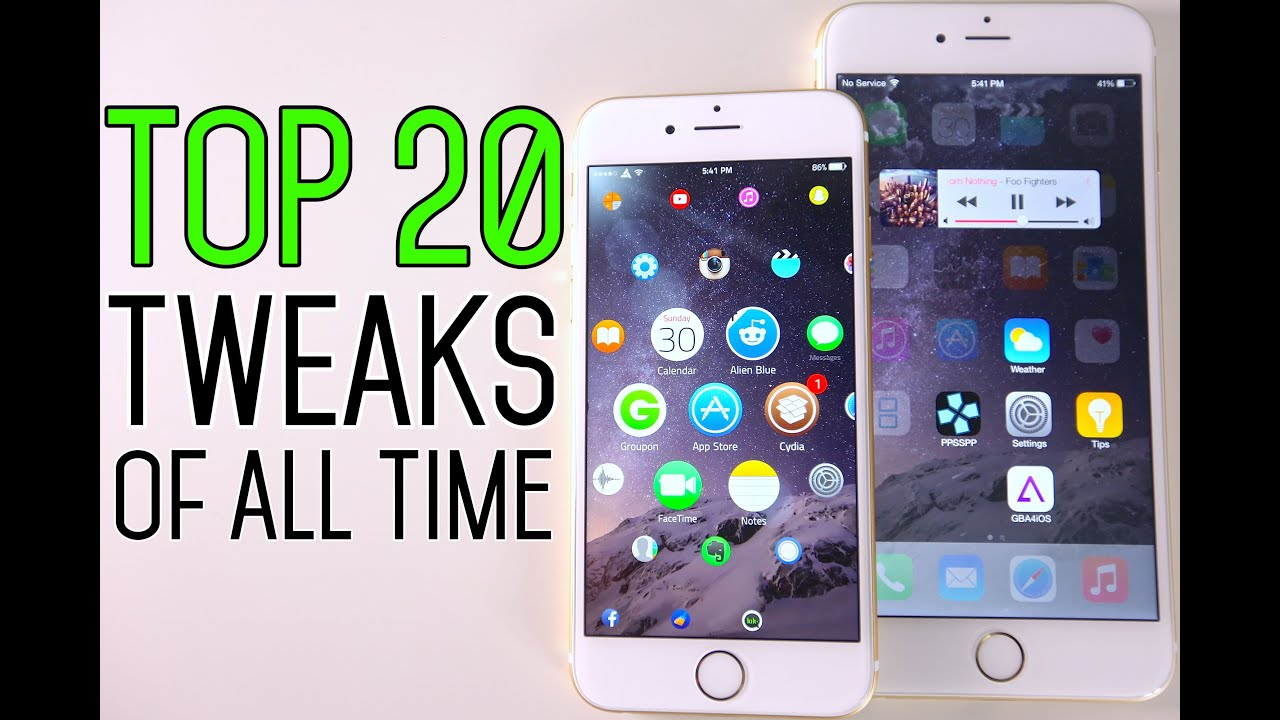 Top 20 iOS 8 Cydia Tweaks Of All Time - 8.1.2 \u0026 8.1.1 TaiG Jailbreak