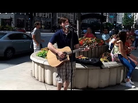 "Jack Byron sings ""Imagine"" in Chicago - (July 15, 2015)"