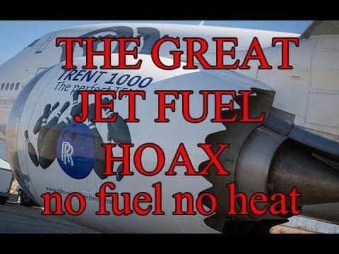 Plane Engines No Fuel No Heat  (THE GREAT JET FUEL HOAX)