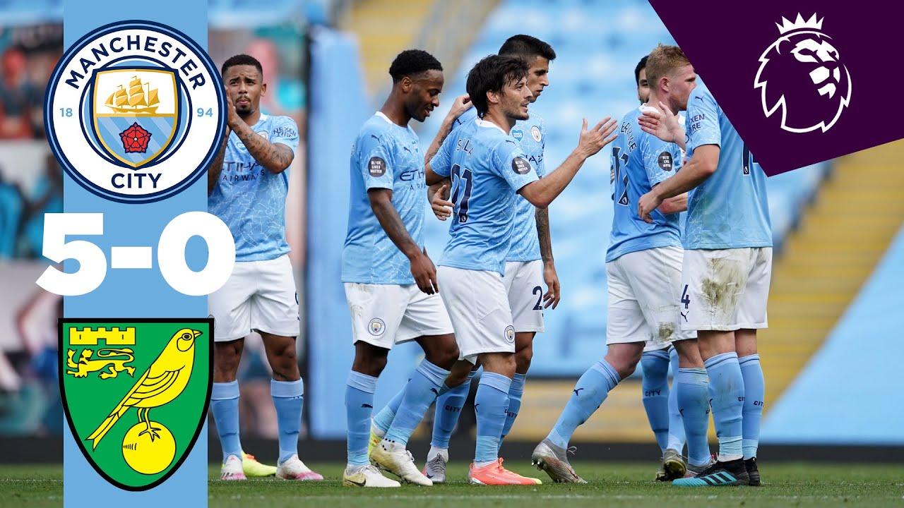 HIGHLIGHTS | MAN CITY 5-0 NORWICH | Jesus, De Bruyne, Sterling, Mahrez, De Bruyne