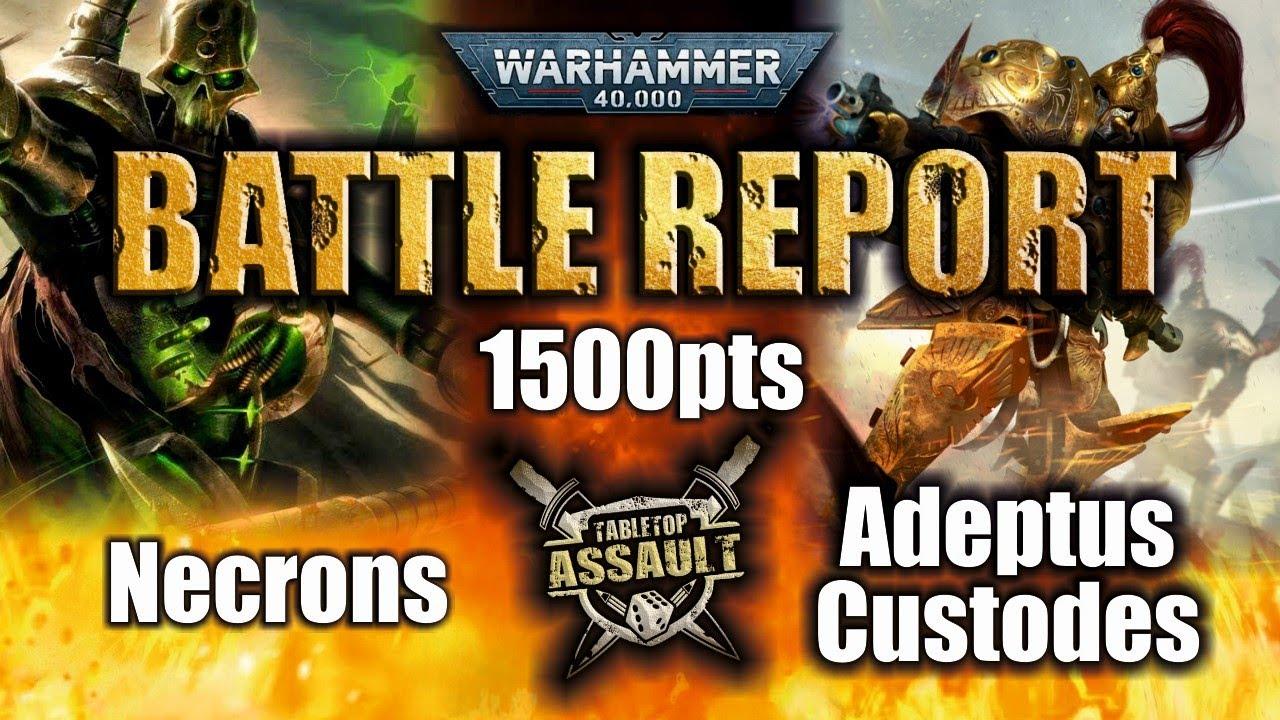 Necrons vs Adeptus Custodes 1500pts Battle Report