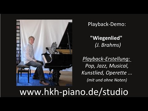 Wiegenlied (Brahms) Playback Demo