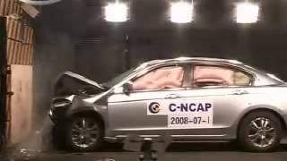 Vehicule  Crash Test 2008 Honda Accord _ Inspire Full Frontal Impact) C-NCAP-Extreme