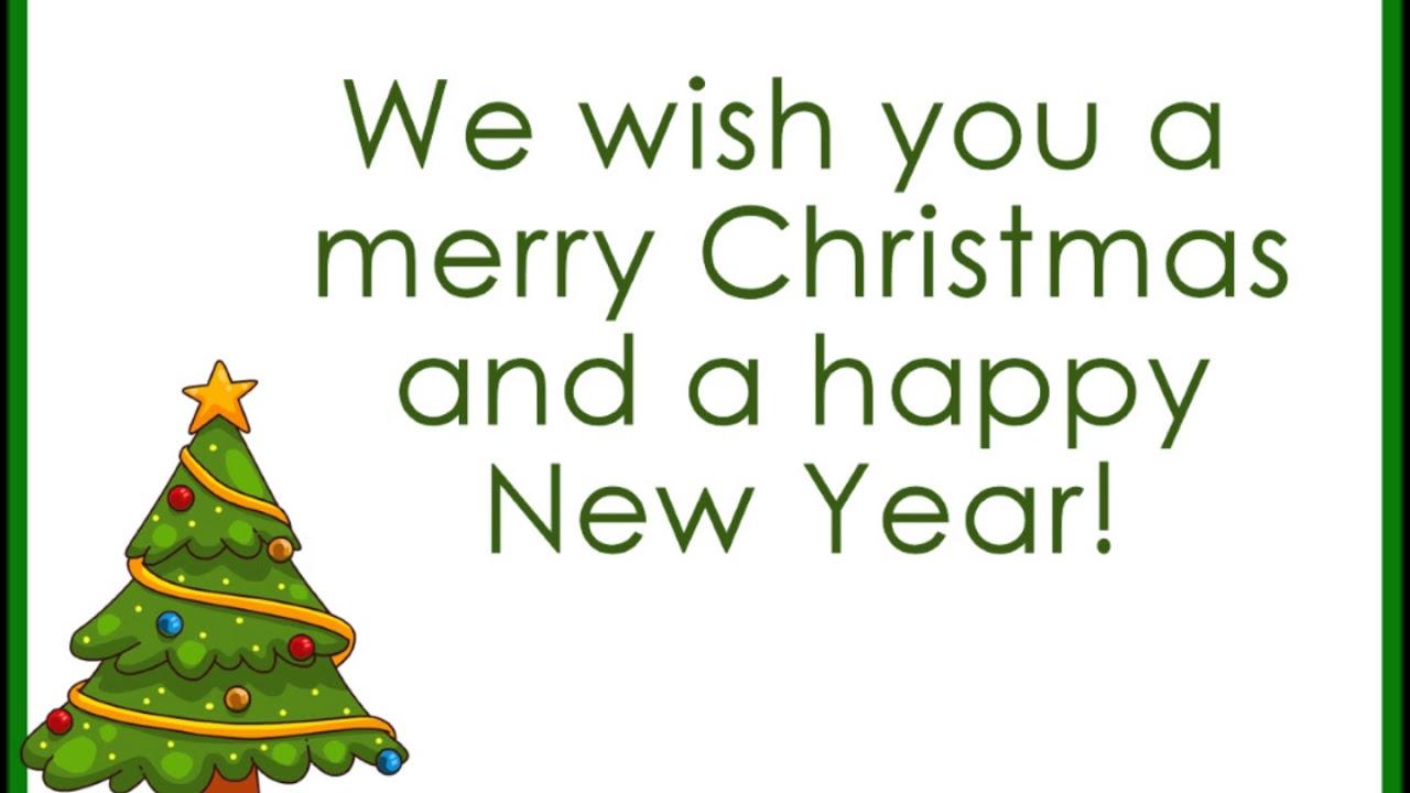 We Wish You a Merry Christmas Lyrics - YouTube
