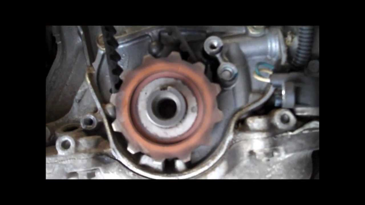 1996 civic wiring diagram marathon electric ac motor 2000 honda ex timing belt water pump diy d16y8 youtube