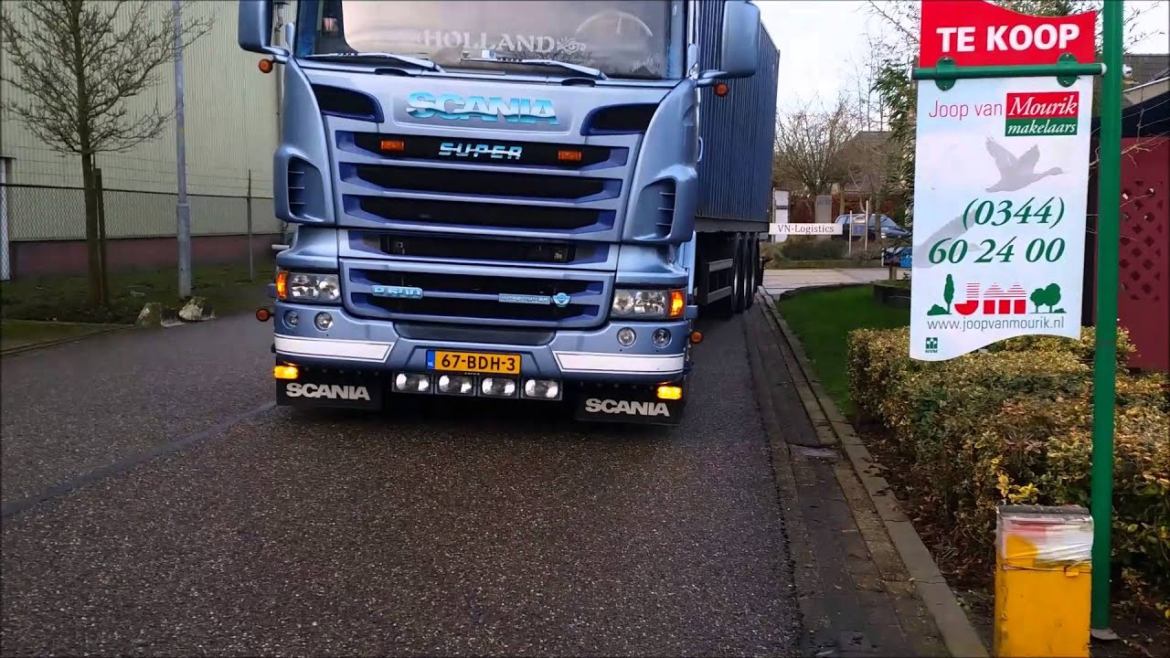 Fonkelnieuw Scania R500 V8 Kevin Sneepels - Special HD ! - YouTube ZS-77