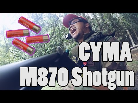 Gameplay video of CYMA M870 Shotgun