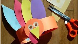 Renkli kartonlardan hayvanlar alemi taç yapımı #4#5#yaş#etkinlik#kolay çocuk etkinliği