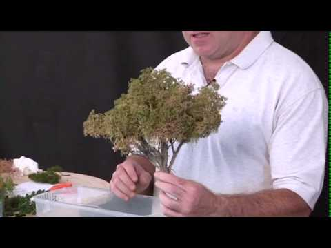 Model Railroad Train Scenery-Excellent  Concepts For Mustering Making Sage Brush Trees