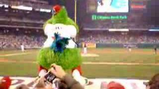 Philly Phanatic Doing His Thing