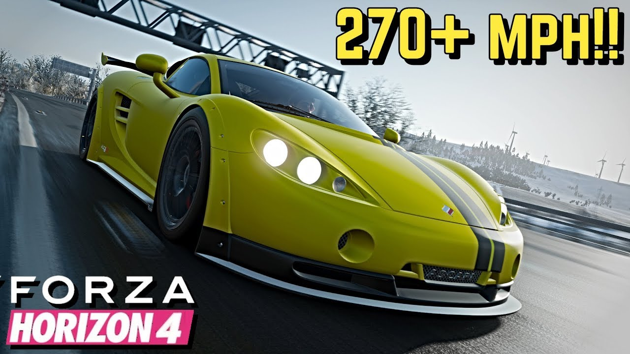 Forza Horizon 4 270 Mph Ascari Kz1 R Tutorial Youtube
