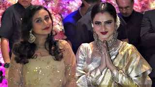 Rani Mukherjee And Rekha At Akash Ambani And Shloka Mehta Engagement Party