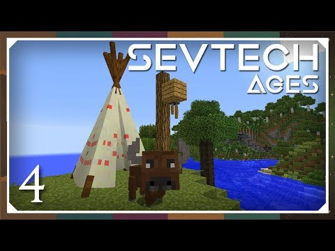 Sevtech: Ages | Totemic Ceremony & Buffalo! | E04 (SevTech Ages Modpack)