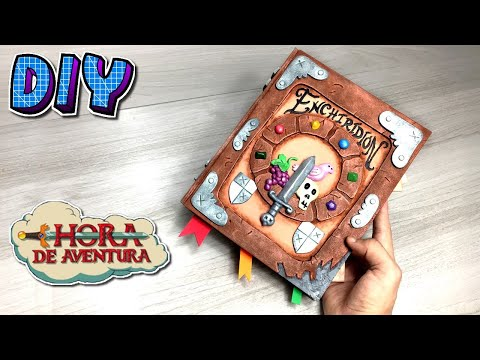 Como Fazer Enchiridion, O Manual Do Herói De Hora De Aventura - DIY -