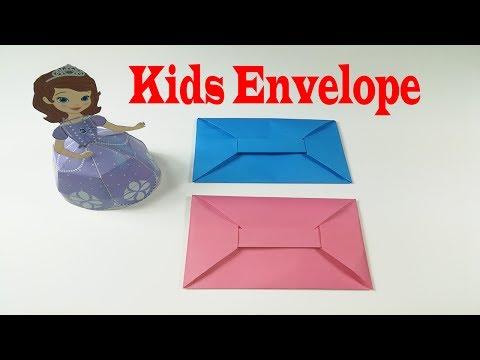 Super Easy Origami Envelope Tutorial - DIY - Paper Kawaii - YouTube | 360x480
