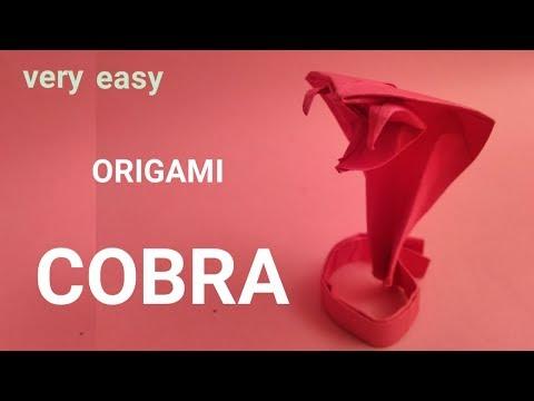 make an origami cobra - paper snake - easy origami