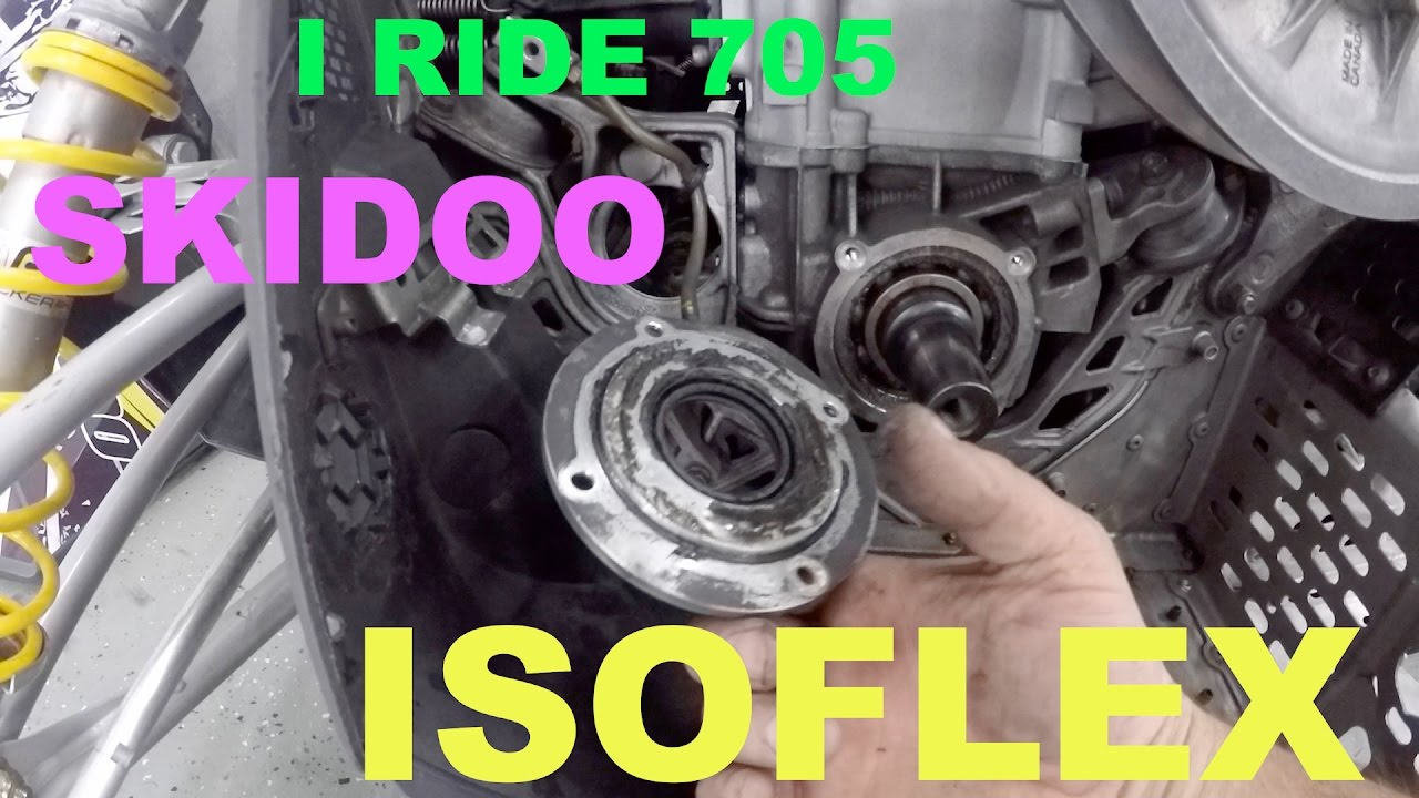 #55 How to Change Isoflex grease in skidoo xp crank bearing