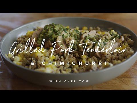 Grilled Pork Tenderloin & Chimichurri