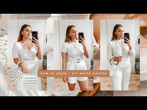 HOW TO STYLE ALL WHITE OUTFITS | I Covet Thee - YouTube
