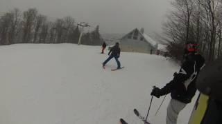02/07/17 The Big Man skiing Head Titan and Boss Ross skiing Blizz Rustler. | Ski Haus