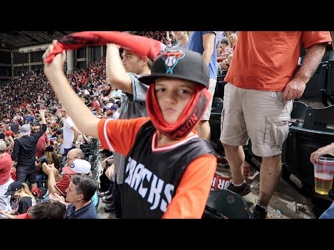 Surprised Mason With Baseball Playoff Tickets