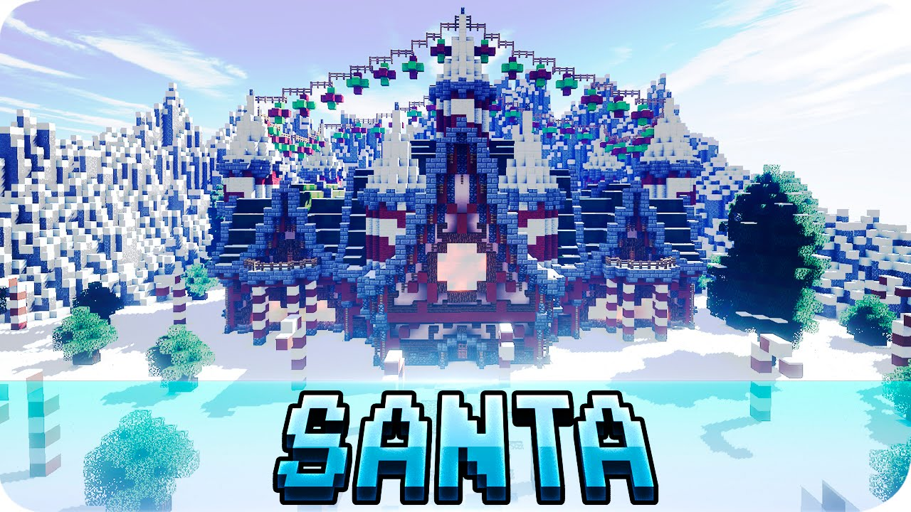 Minecraft - Santa's Workshop - Christmas Map w/ Download - YouTube