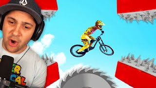 I Completed The MOST INSANE BIKE OBSTACLE COURSE EVER! | Descenders Wipeout