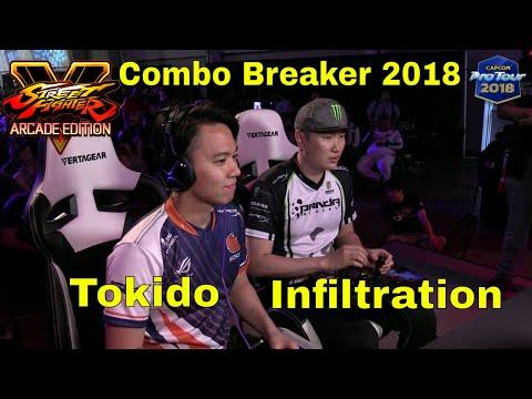SFV AE - Infiltration VS Tokido   Combo Breaker 2018 - Day 3   CPT 2018