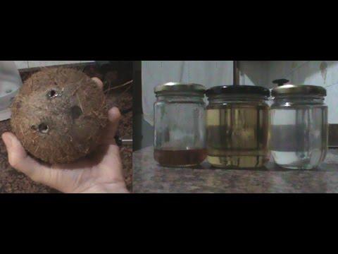 Cómo hacer aceite de coco casero (Extracción en caliente),  para comer, hacer jabón, pelo, piel etc.